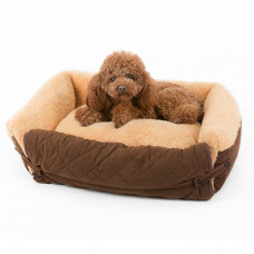 Fold-out Bolster Dog Bed for Small Dogs
