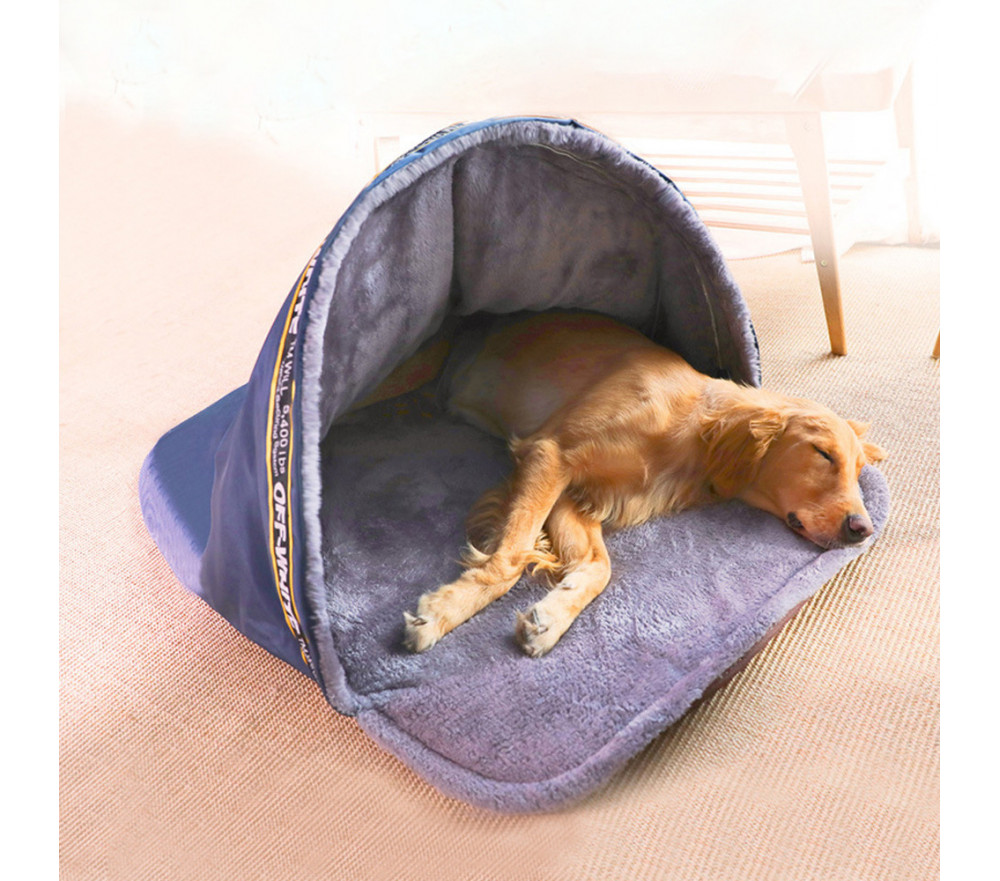 Dog Cave Bed Cozy Hooded Extra Large Dog Bed