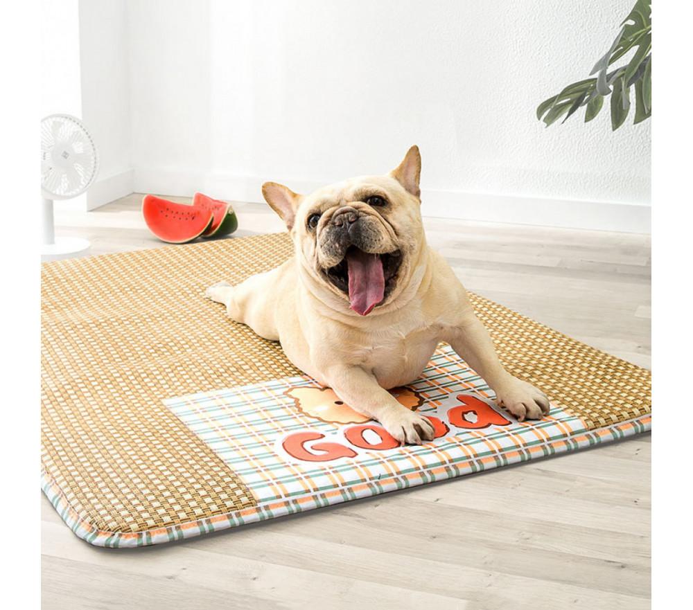 Little Bear Cool Rattan Mats Summer Dog Cooling Mat for Crate
