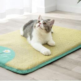 Daisy Cool Rattan Mats Summer Cooling Mat for Cats Sleeping