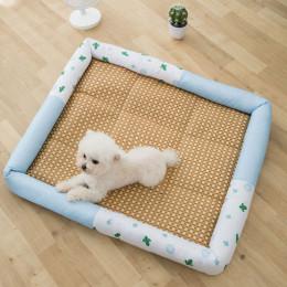 Pet Summer Cool Mat Cactus Printed Cooling Dog Bed