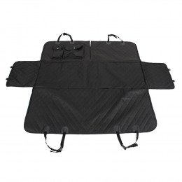 Rear Car Seat Covers for Dogs with Seat Belt Holes