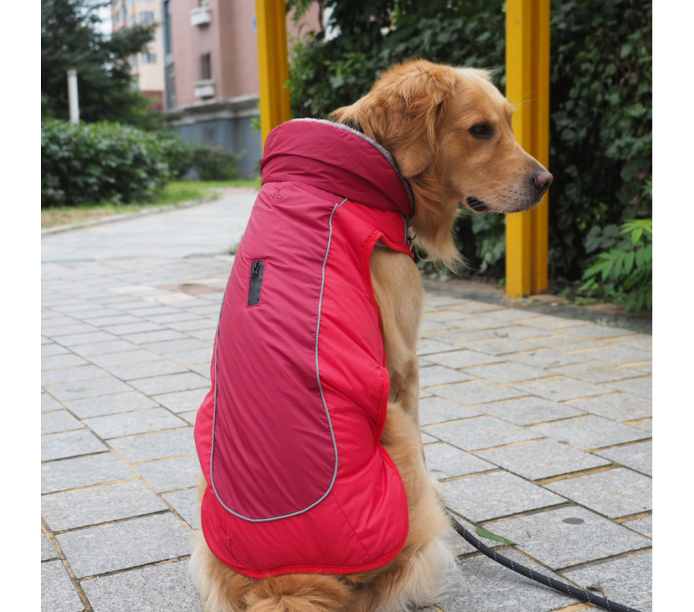 Fleece-Lined Dog Jacket with Harness Hole