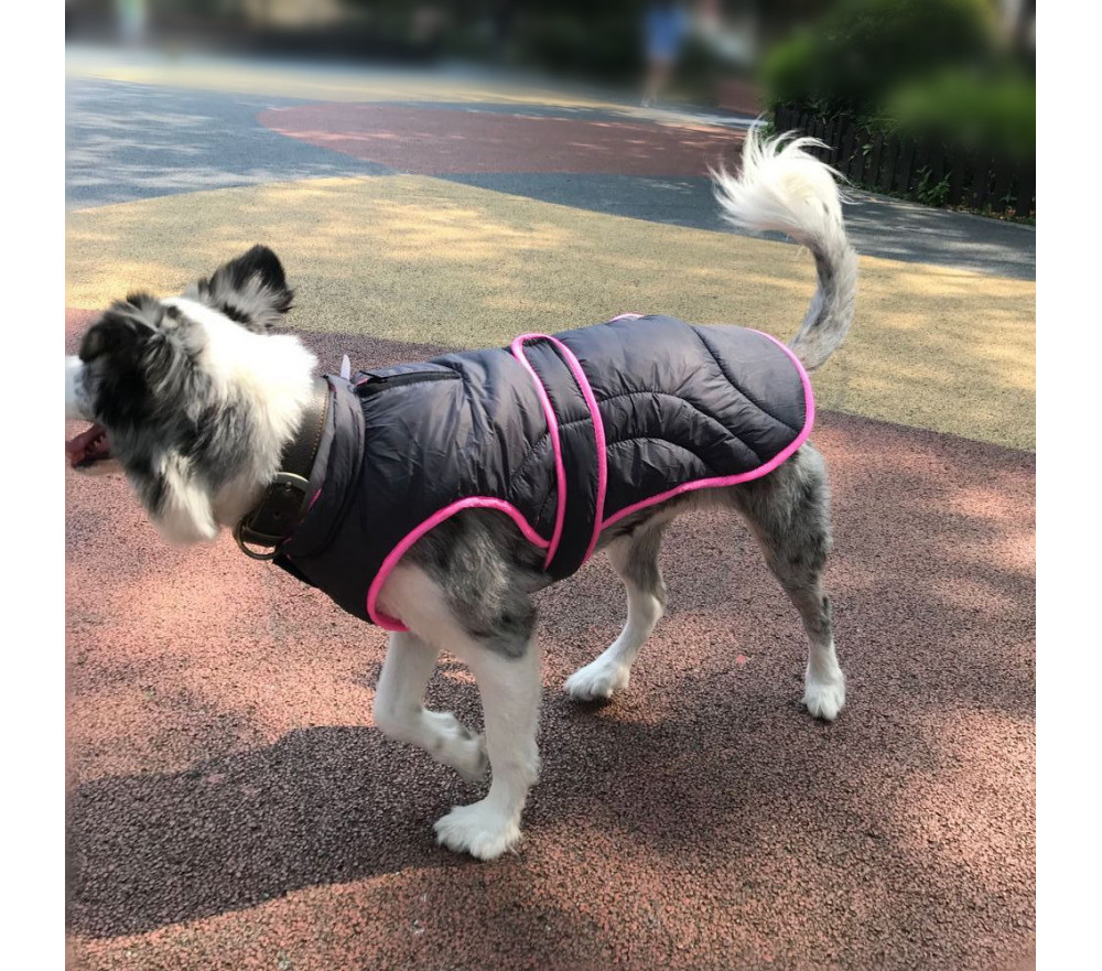 Reversible Large Dog Puffer Vest Harness Freindly
