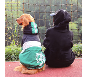 Number Printed Large Dog Winter Coat with Hood