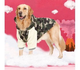 Hoodied Camouflage Dog Coats for Winter