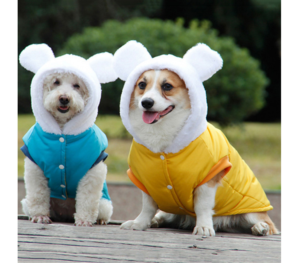 Bear Ears Dog Coat with Hood for Small Dogs