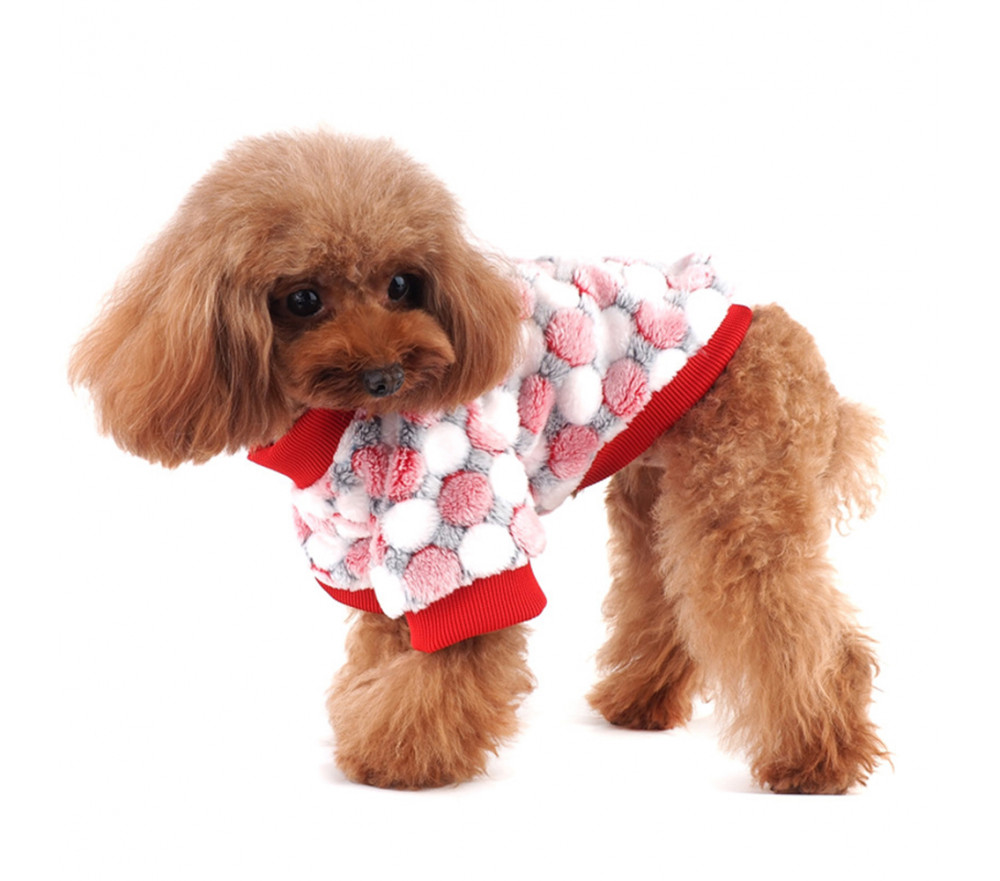 Polka Dot Winter Fleece Coat for Small Dogs