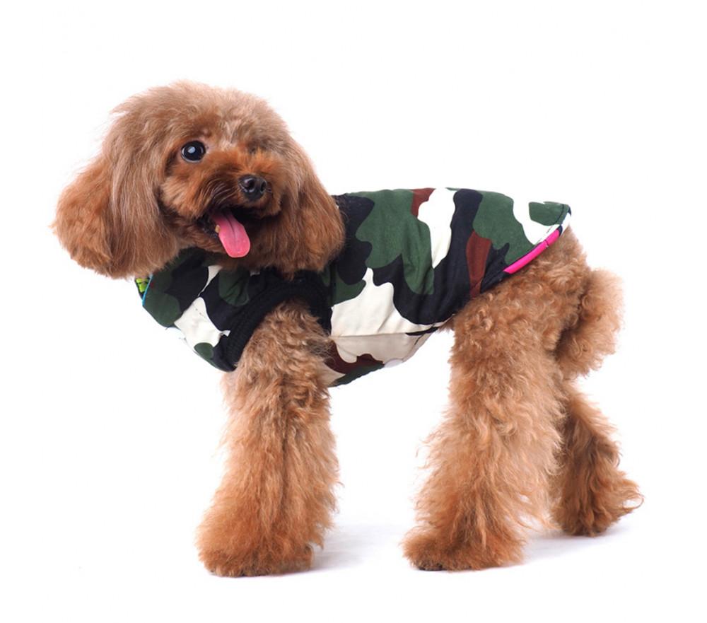 Camouflage Winter Dog Coat for Poodles