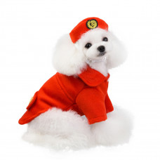 Flight Attendant Costume for Dogs with Hat