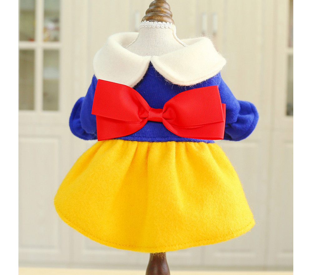 Snow White Dog Princess Costume Dress