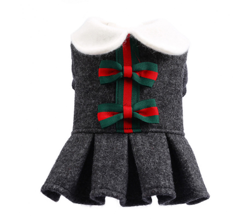 Christmas Bowknot Dress for Small Dogs Special Sale