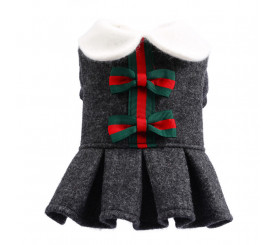 Christmas Bowknot Dress for Small Dogs