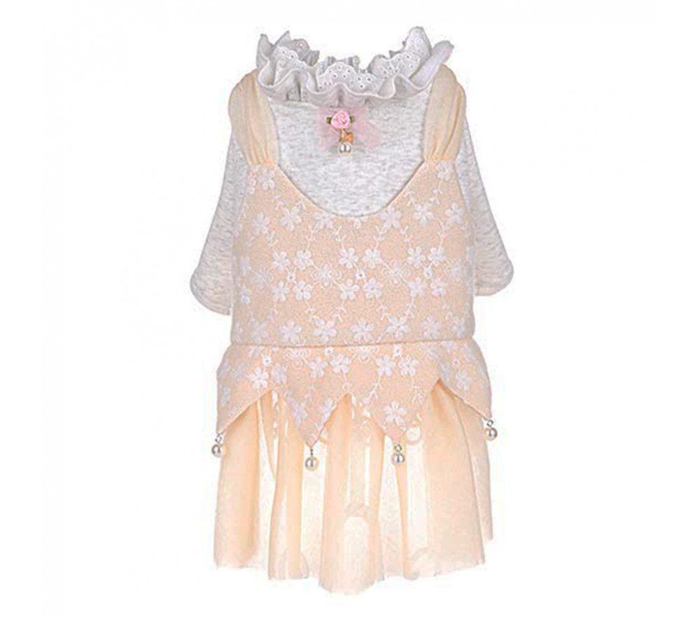 Fake Two Piece Lace Dress for Small Dogs