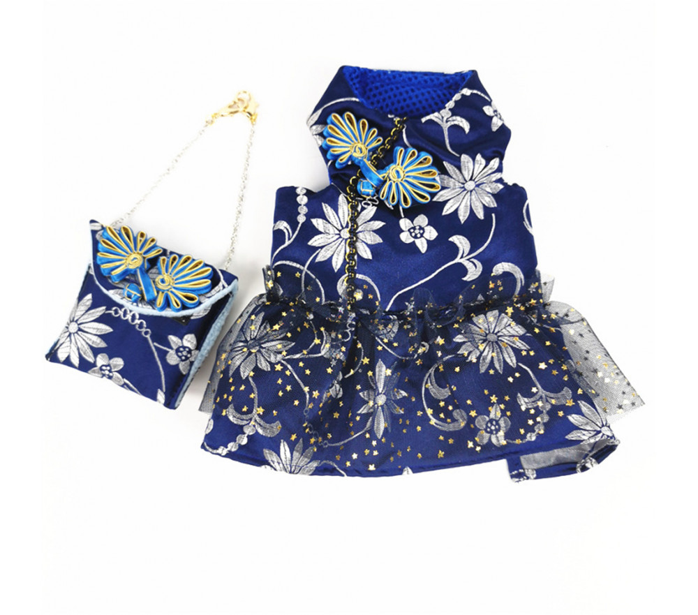 Embroidery Lace Dress with Bag for Small Dogs Special Sale