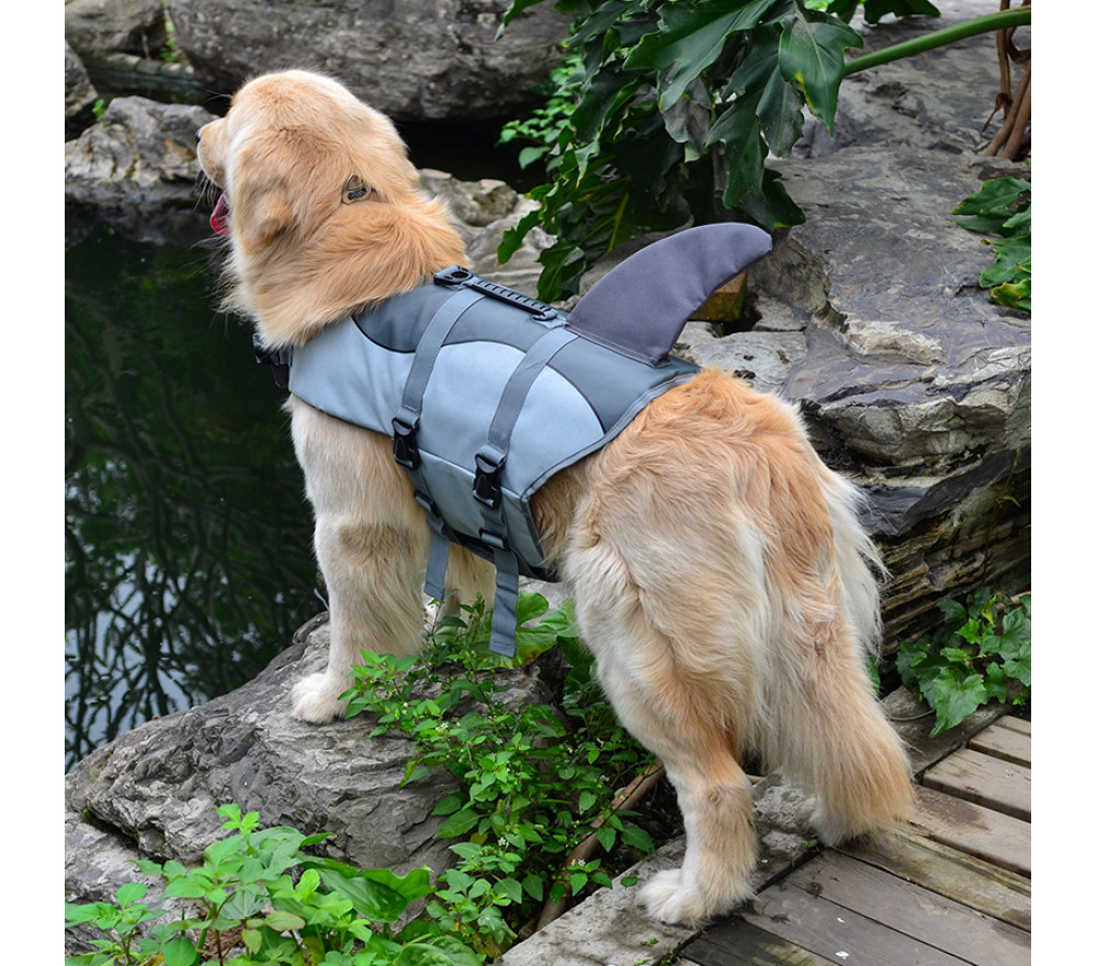 Shark Dog Life Jacket Ripstop Pet Flotation Vest