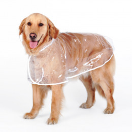 Clear Dog Raincoat with Hood Poncho  Rain Jacket for Large Dogs