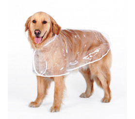Large Dog Rain Poncho Clear