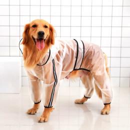 Large Dog Raincoat Clear Poncho Rain Jacket