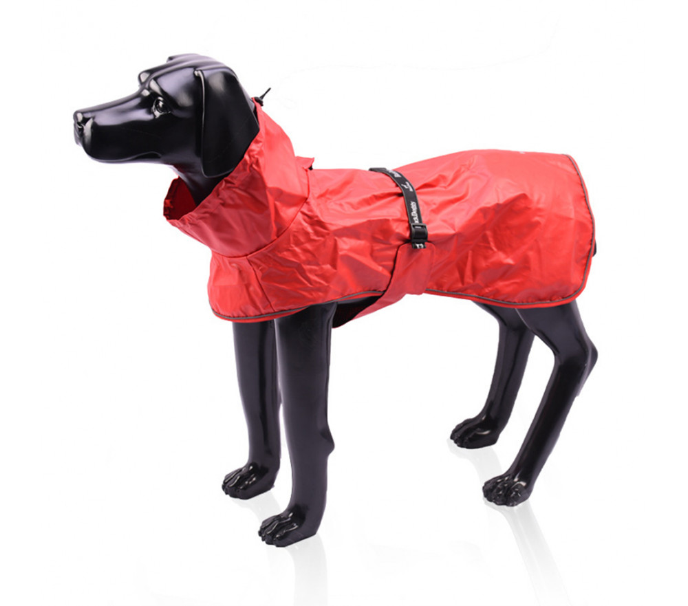 Large Dog Raincoat With Harness Opening Turtle Neck Dog Rain Jacket