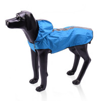 Reflective Large Dog Raincoat With Hood Puppy Poncho Jacket