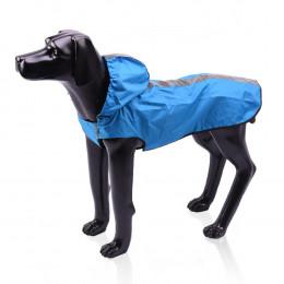 Reflective Large Dog Raincoat With Hood Puppy Poncho Jacket