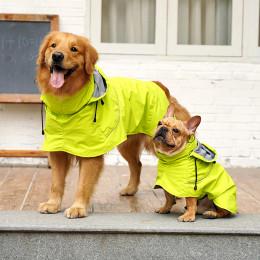 Dog Rain Poncho Dog Raincoat with Hood Harness Opening