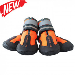 Winter Outdoor Hiking Dog Shoes Warm Dog Snow Boots