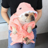Dog Bathrobe Towel Dog Drying Coats Shark Hippo