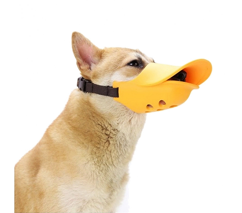 Funny Duck Bill Small Dog Muzzle for Barking Biting