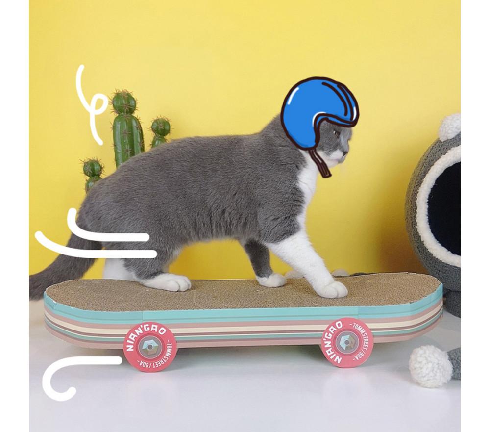 Skateboard-Shaped Cat Scratcher Special Sale