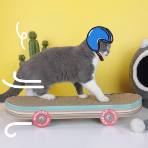 Skateboard-Shaped Cat Scratcher