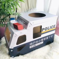 Cute Scratching Post Police Car Cat Scratch Box Cardboard