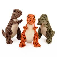 Fleece Knot Dinosaur Dog Toys 3 Packed