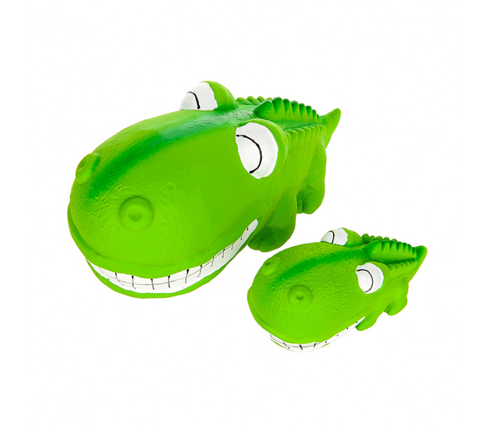 Latex Squeaking Dog Toy Crocodile 2 Pack
