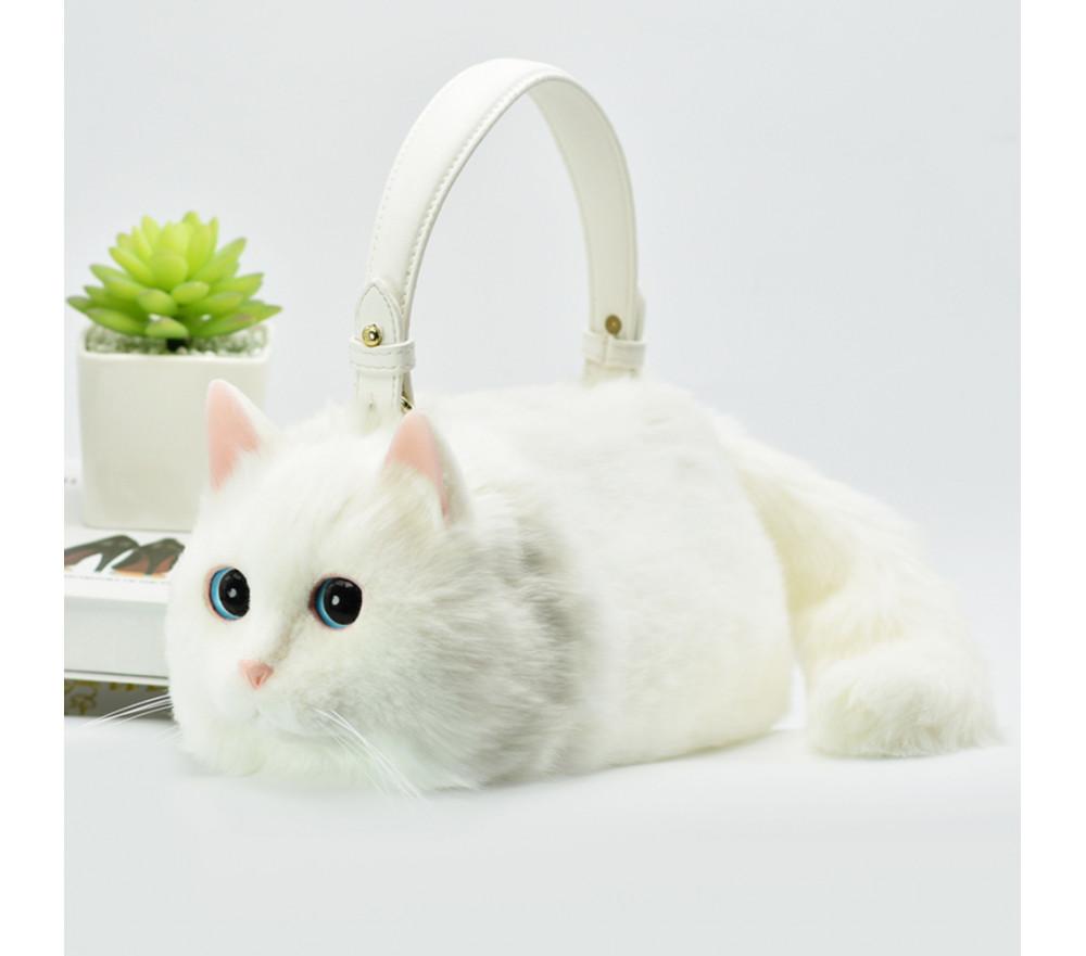 Realistic Cat Handbag Crossbody Purse