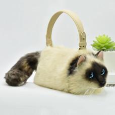 3D Siamese Cat Handbag