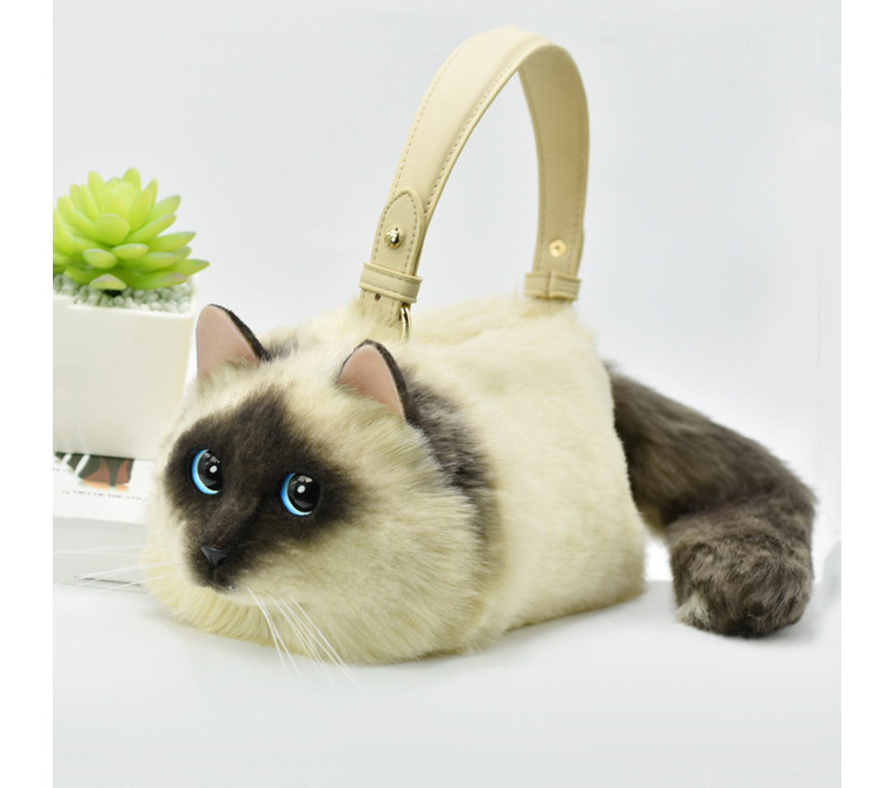 3D Siamese Cat Handbag