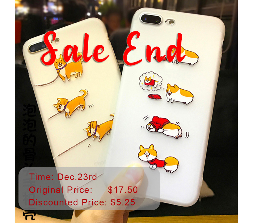 Phone Case for iPhone Corgi Shiba Inu Flash Sale