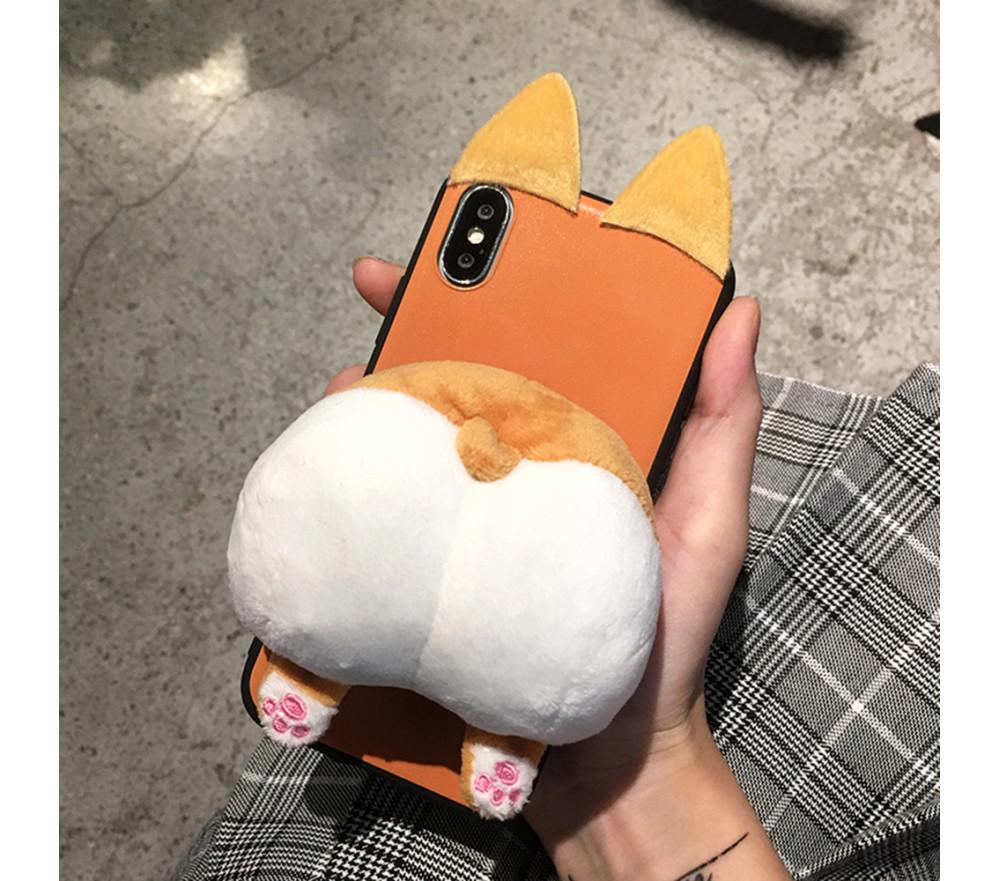 Stuffed Corgi Phone Case for iPhone