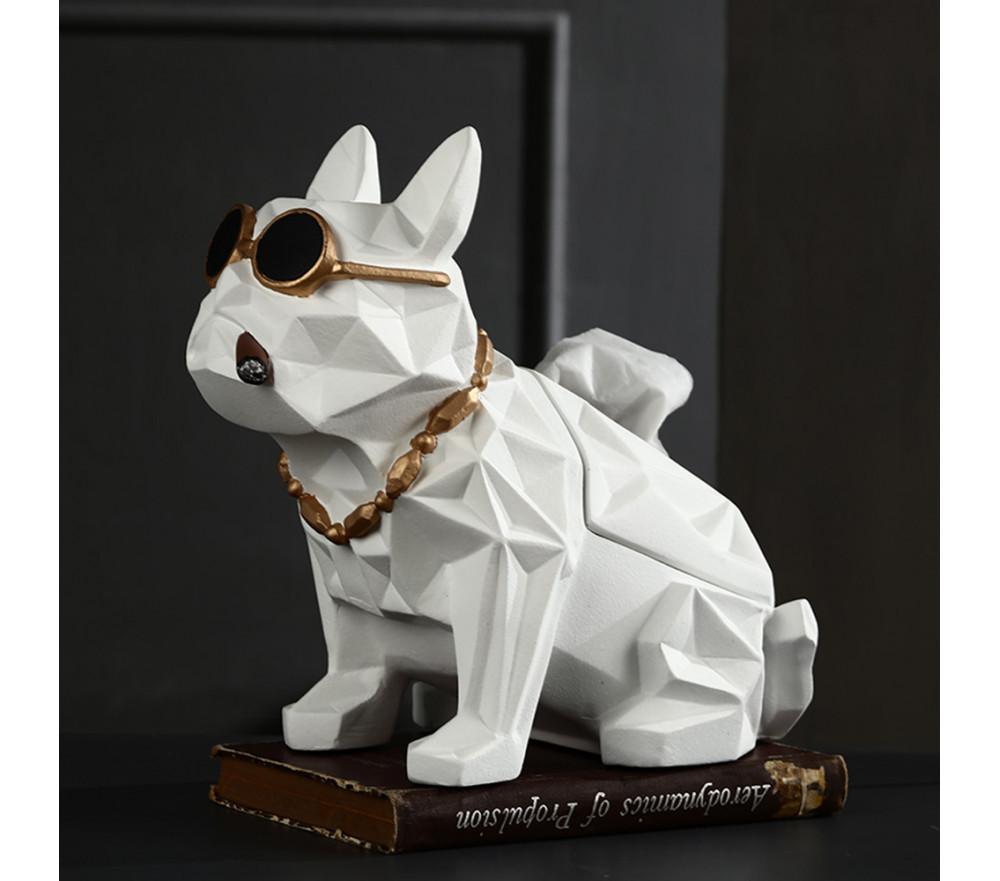 Dog Sculpture Tissue Box Home Decor