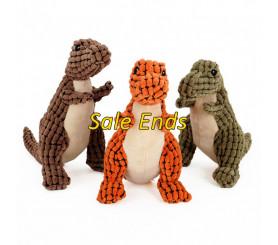 Fleece Knot Dinosaur Dog Toys 3 Packed Flash Sale