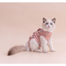 Straps Cat Surgical T Shirt  Pet Post Surgical Clothing Onesie