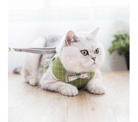 Pet Traction Rope Bowknot Vest Style Anti-break Free Chest Strap