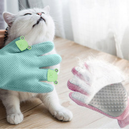 Hands-on Cat Grooming Gloves Magic Pet Dog Shedding Hair Remover