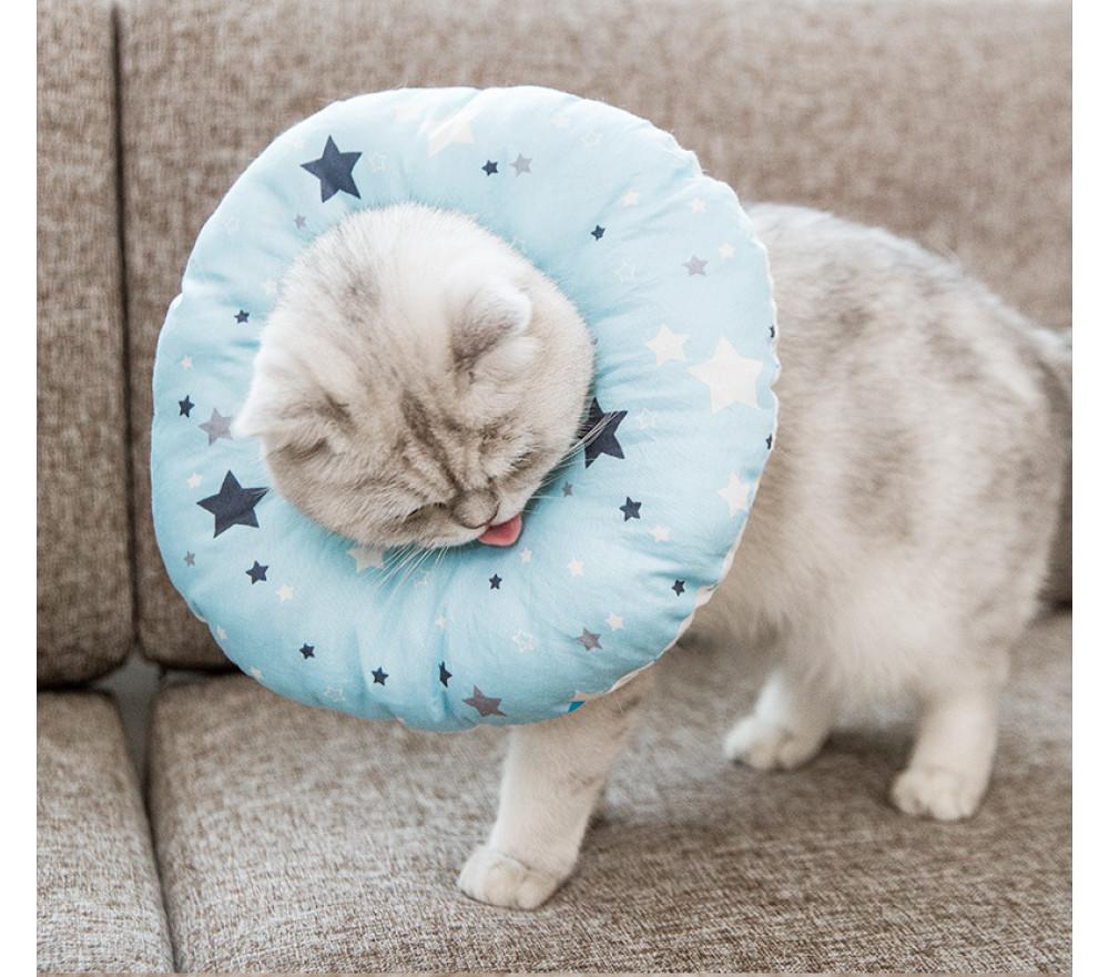 Comfy Donut Cat Surgery Cone Soft Pet Dog Spay E Collar Alternative