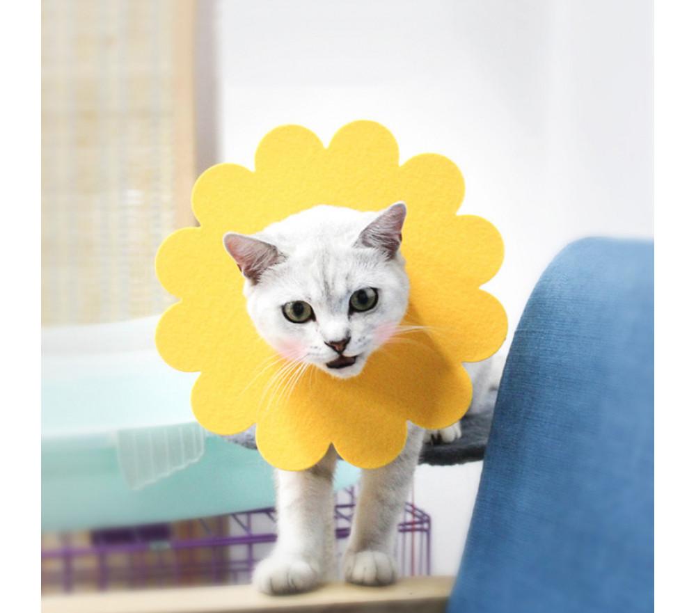 Soft Flower Cat Elizabethan Collar Comfy Pet Dog Head Cone Alternative