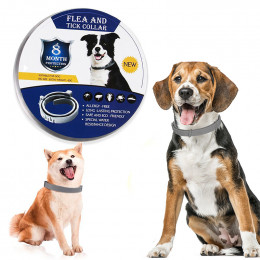 Natural 8 Months Flea and Tick Collar for Dogs and Cats