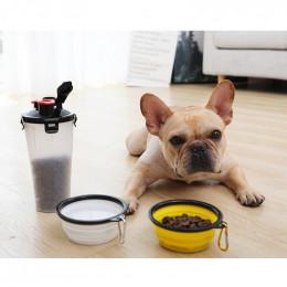 Collapsible Dog Bowl Portable Water Bottle Set for Walking