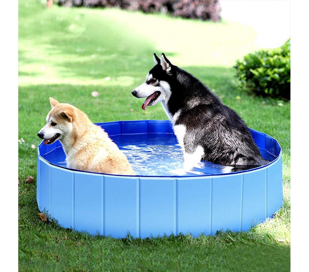 Summer Foldable Dog Swimming Pool Portable Dog Bath